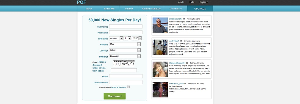 Plentyoffish free online dating