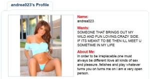 SexAttract woman's profile