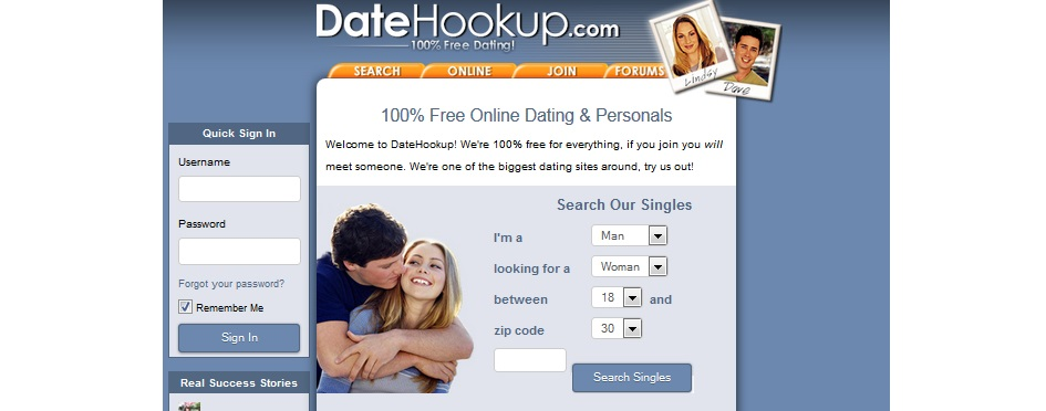 Free hookup services free of charge