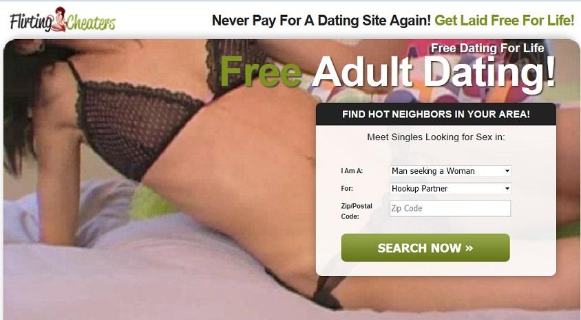 FlirtingCheaters homepage