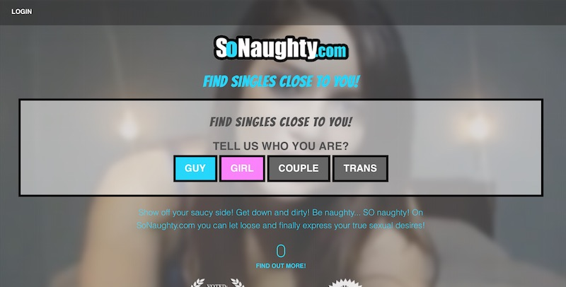 SoNaughty.com Homepage