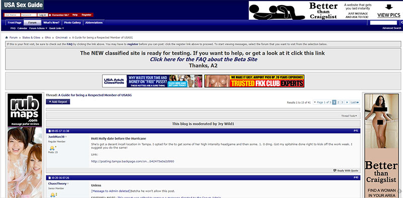 UsaSexGuide Review Forum