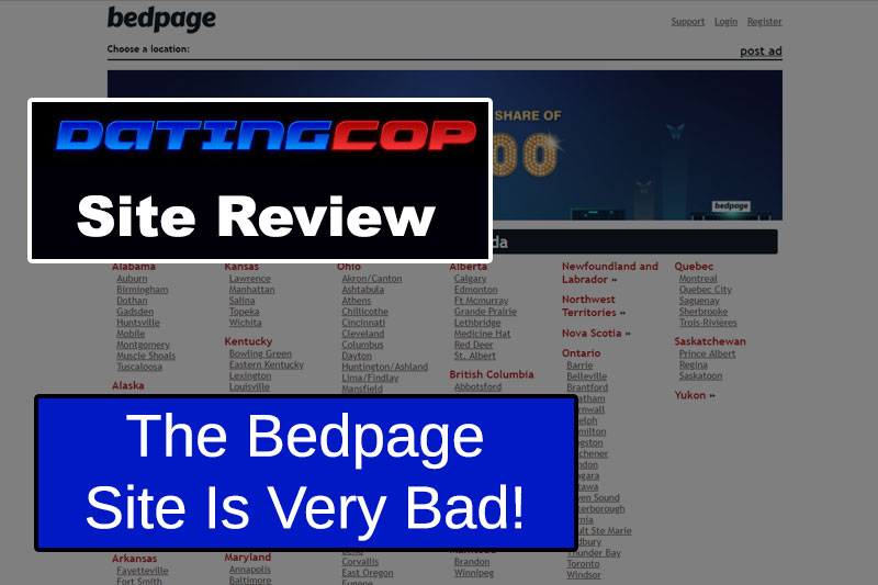 bedpage website homepage
