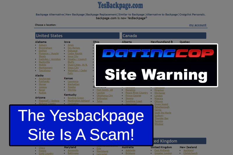 YesBackpage.com Site Homepage