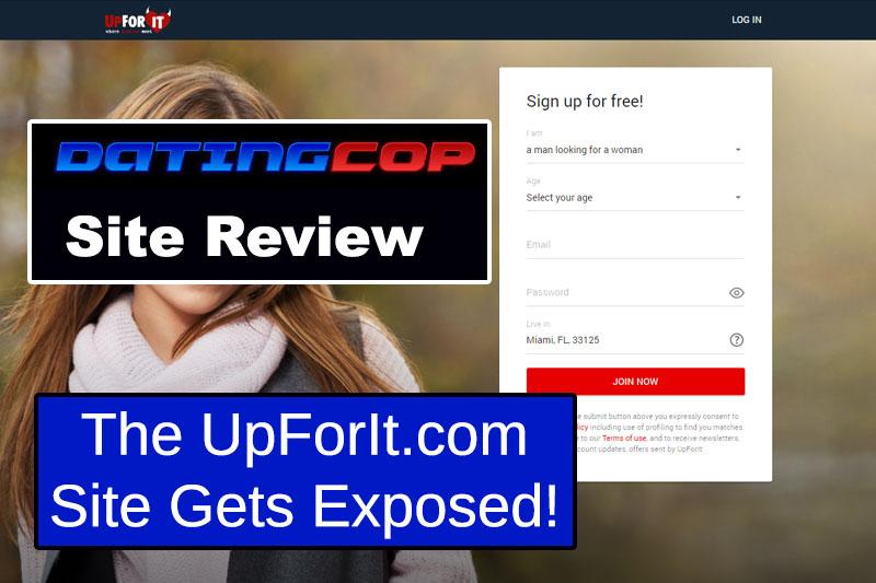 UpForIt homepage