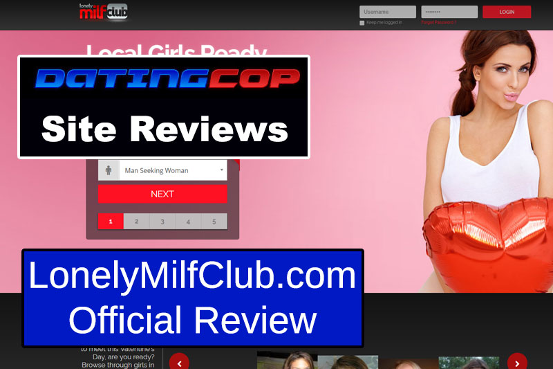 Lonely Milf Club Homepage