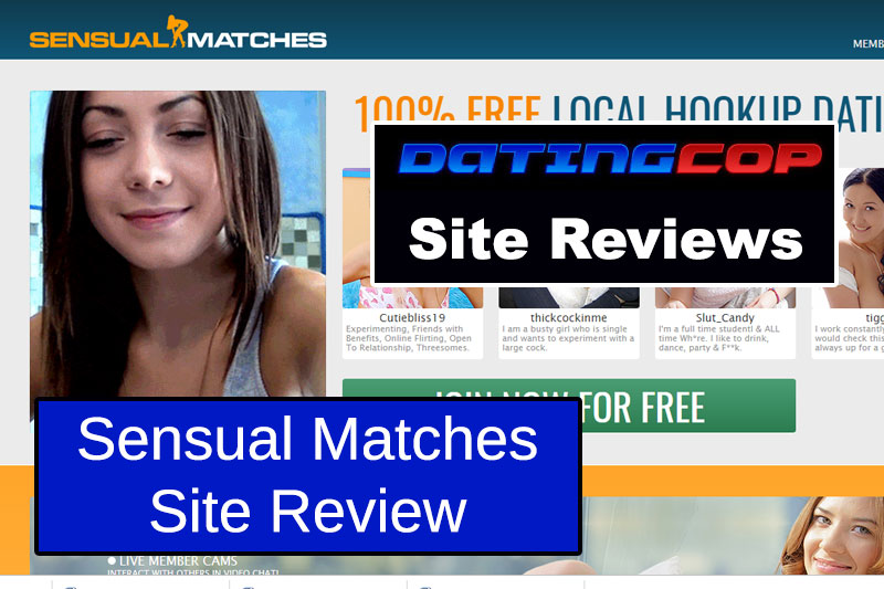 Sensual Matches homepage